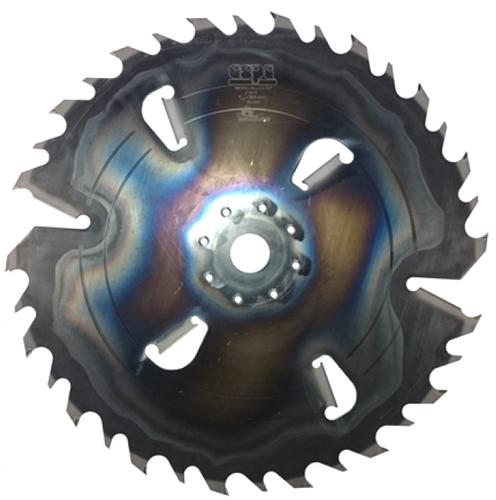 Пила дисковая ASPI (GASS) 550x50x5.2/3.5 Z24+6 для углового станка Woodver